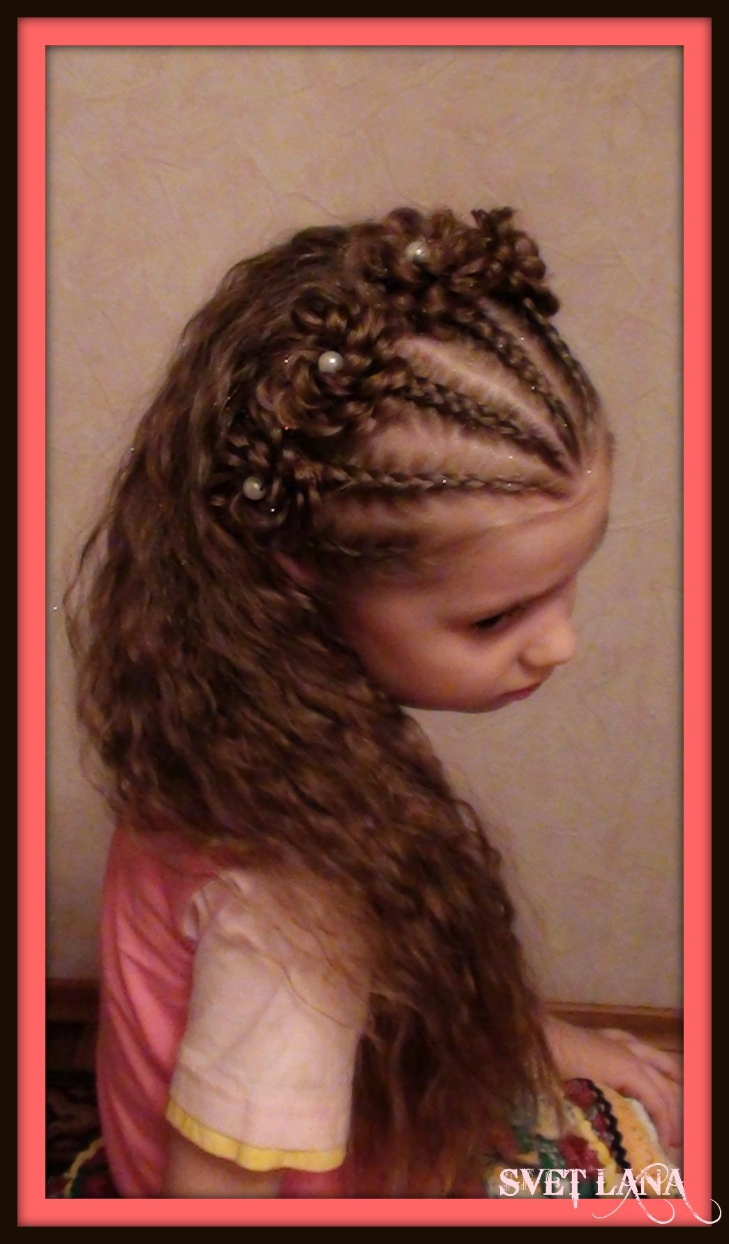 Детские прически для девочек распущенные волосы