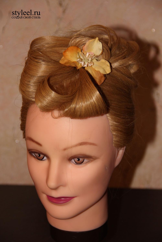 Прическа цветы из волос фото