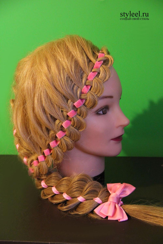 Плетения девочкам фото пошаговое