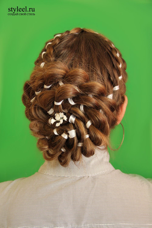 Причёски с косоплетением