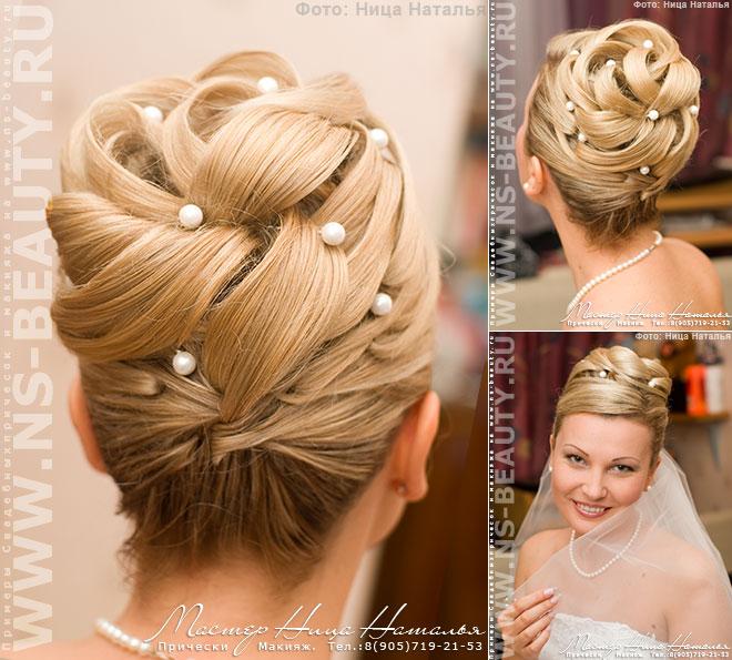 Свадебные причёски на средние волосы как делать7