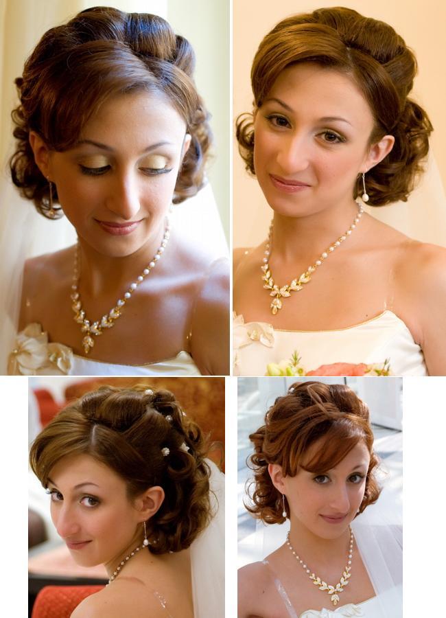 Причёска на короткие волосы маме на свадьбу