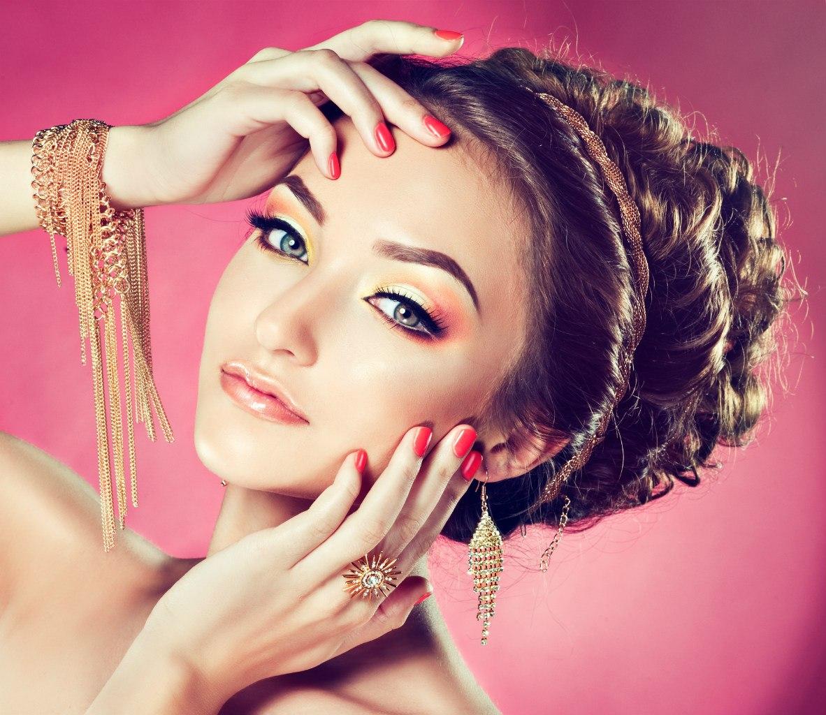 Свадебные причёски макияж маникюр