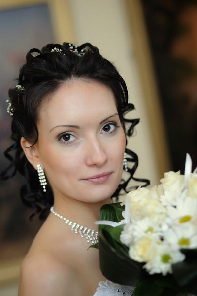 Свадебный макияж прическа