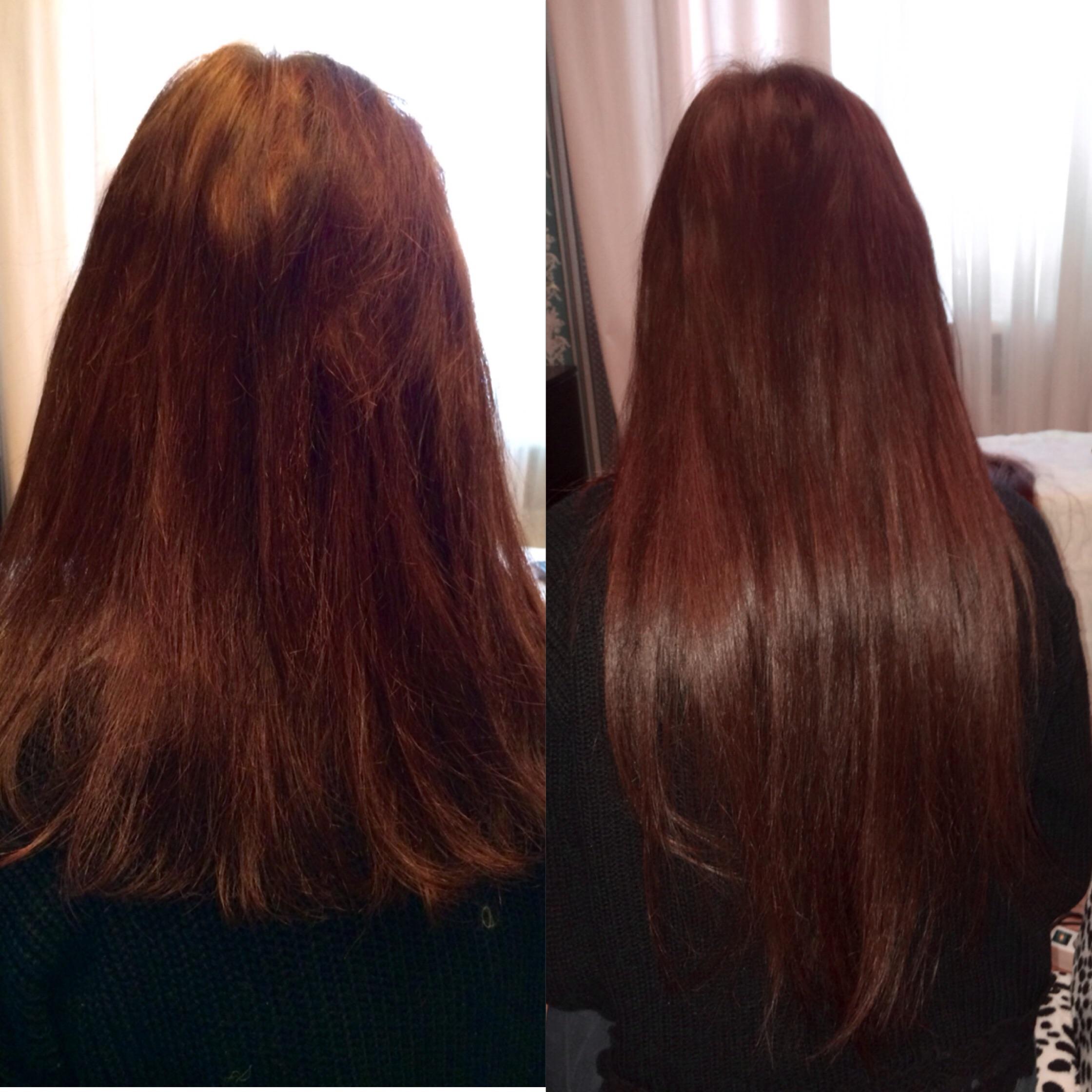 Наращивание волос до после!