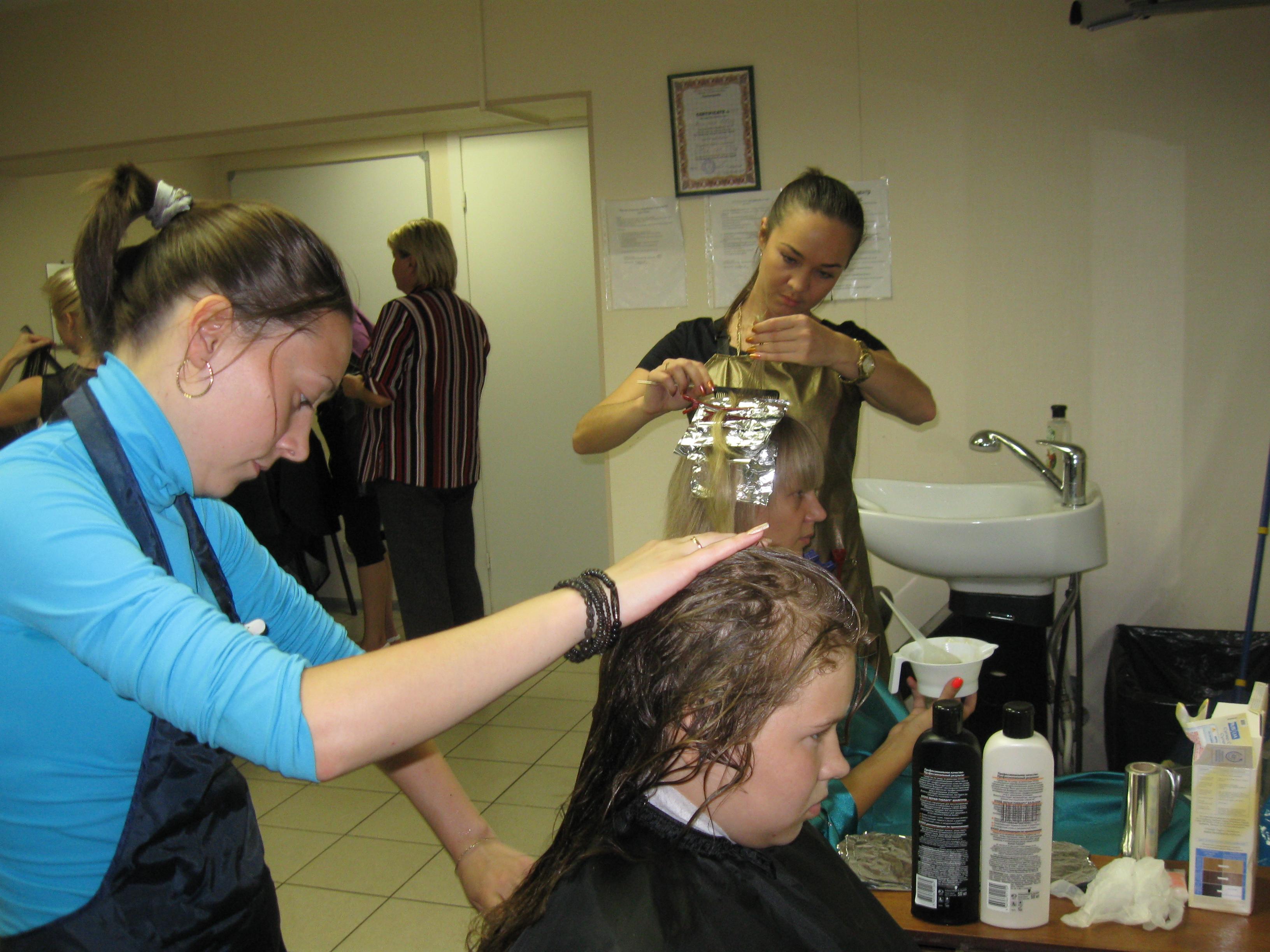 на ком учатся парикмазеры согласен предлагаемыми