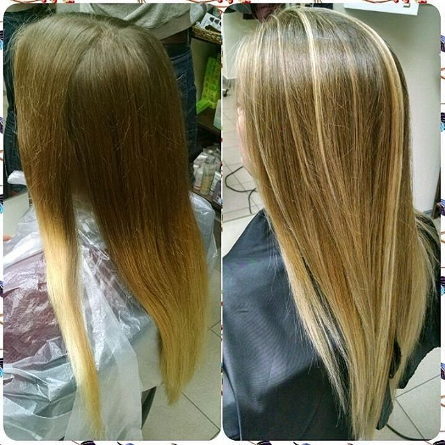 Балаяж на натуральные волосы