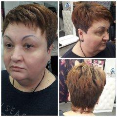 Модельная стрижка на короткие волосы